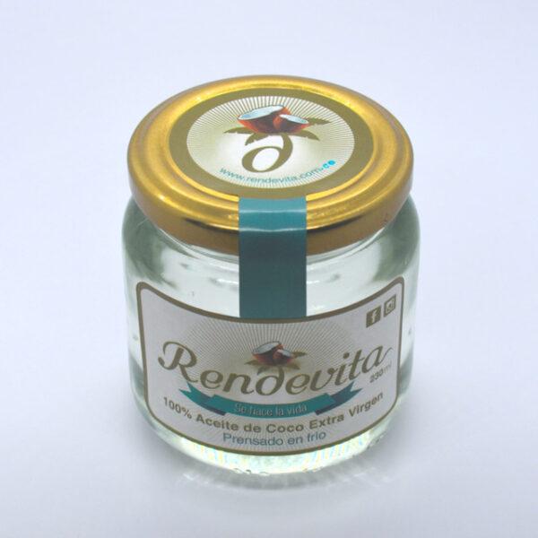 Aceite de Coco Virgen Prensado en frio Rendevita 230 ml